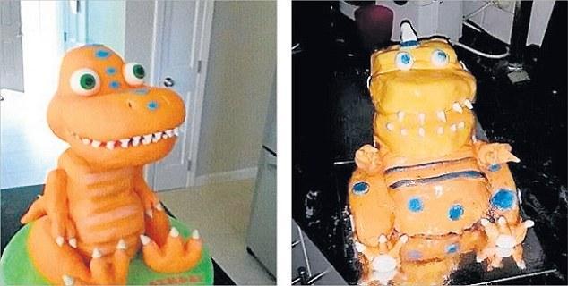 Dinosaur Cake Fail - Stay At Home Mum