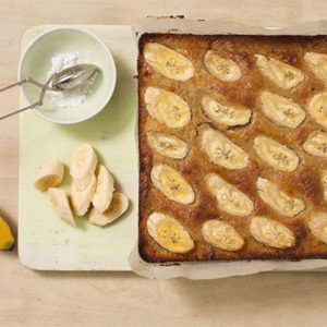 Flourless White Chocolate And Orange Blossom Banana Cake