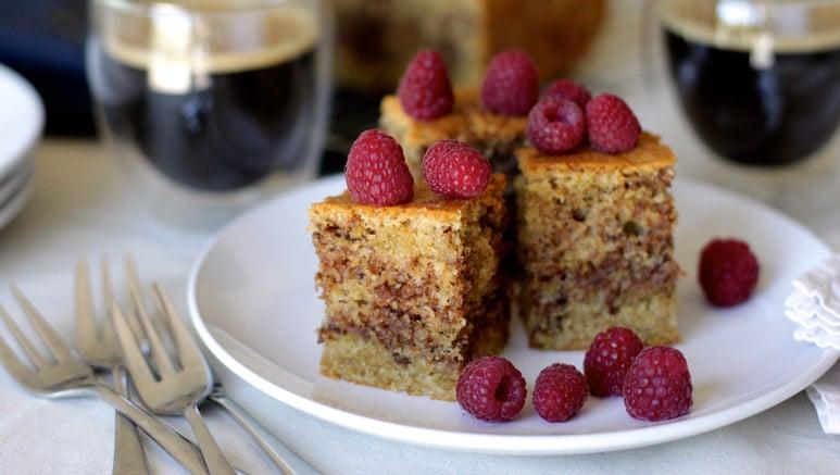 Coffee And Walnut Ripple Cake