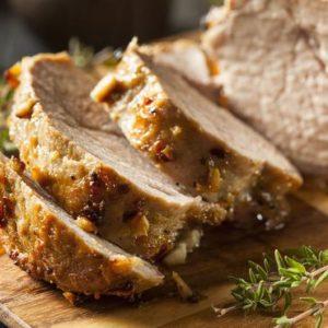 Hot Roast Pork Loin for Six People
