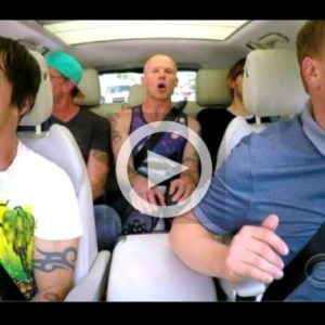 """Red Hot Chili Peppers and James Corden Go Shirtless for """"˜Carpool Karaoke'"""