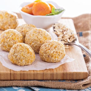 Apricot and Oat Breakfast Bliss Balls