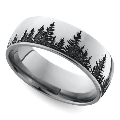 if your husband to be is a huge fan of the great outdoors this wedding band with his favourite element should be worn on his ring finger soon - Unique Wedding Rings For Men