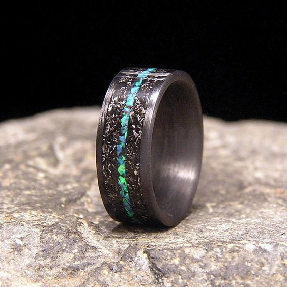 25 unique wedding bands for men stay at home mum - Unique Wedding Ring