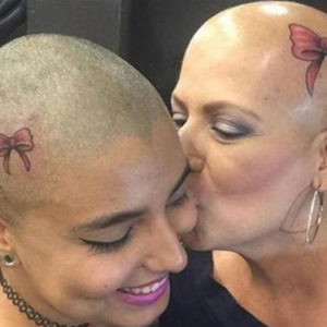 Mum and Daughter Get Matching Tattoo on Scalp in Fight Against Breast Cancer