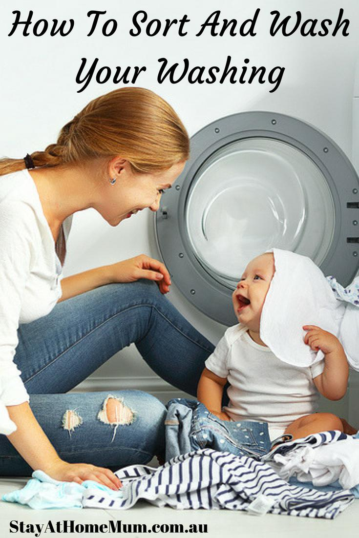 How To Sort And Wash Your Washing - Stay At Home Mum