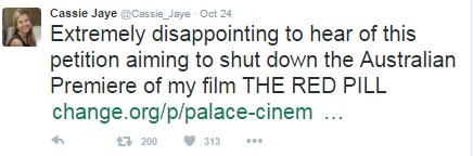 Cassie Jaye's Twitter
