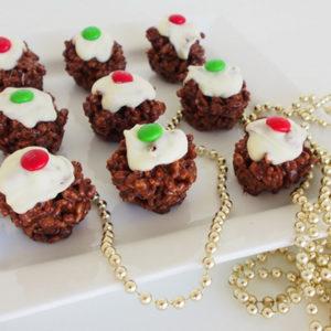 Mini Mars Bar Christmas Puddings
