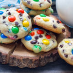 Rainbow M&M Cookies | Stay At Home Mum