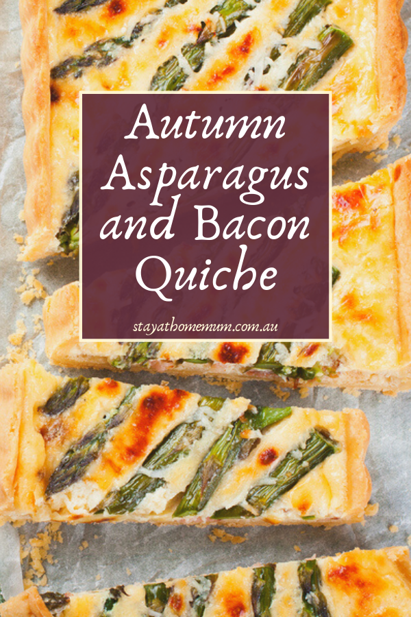 Autumn Asparagus and Bacon Quiche | Stay At Home Mum
