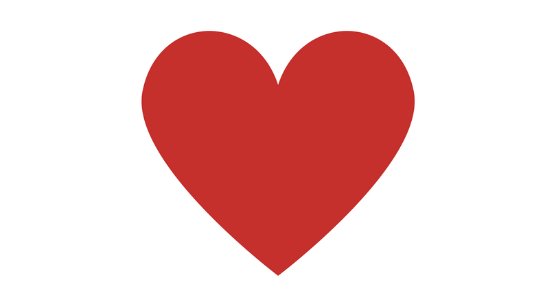 how to add a red heart to facebook post