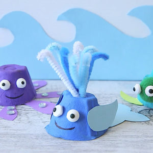 Make Whales Out of An Egg Carton!