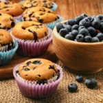 Healthy Sour Cream Blueberry Muffins | Stay at Home Mum