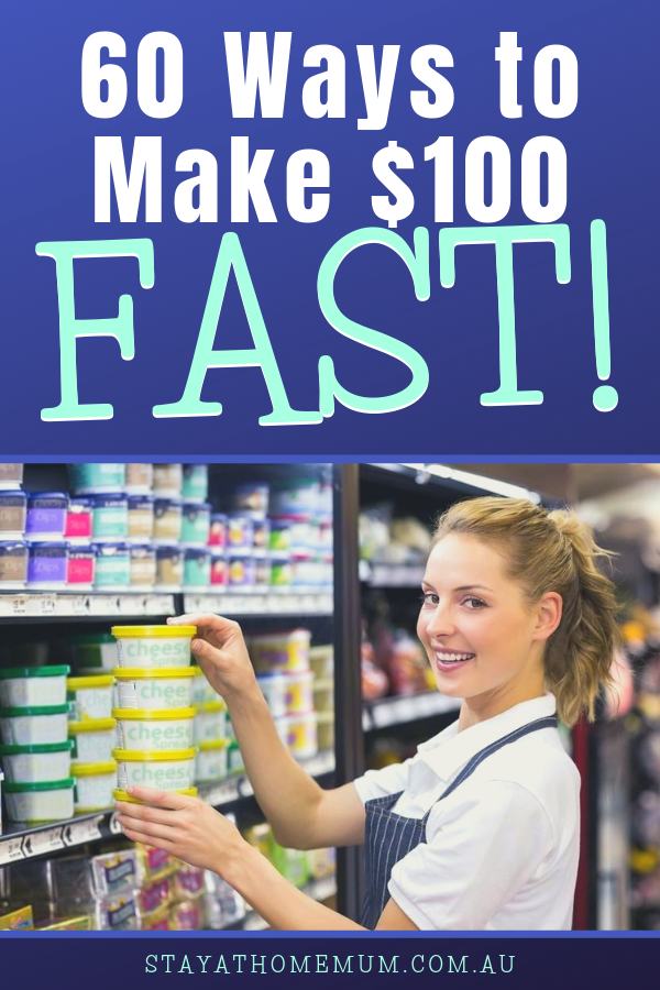 60 Ways to Make $100 FAST! | Stay at Home Mum