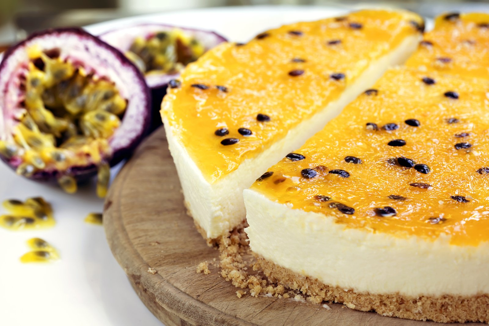 No Bake Passionfruit Jelly Cheesecake Stay At Home Mum