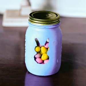 Simple and Adorable Easter Bunny Treat Jars