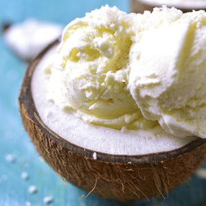 White Chocolate Coconut Ice Cream
