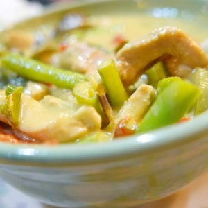 Spicy Green Curry Chook