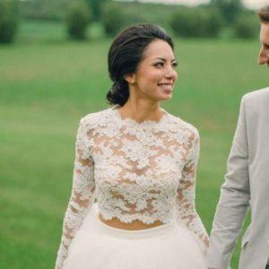 Would You Wear a Two-Piece Wedding Dress?