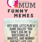 125 Best of Stay At Home Mum Funny Memes