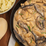 Slow Cooker Chicken and Mushroom Stroganoff | Stay at Home Mum