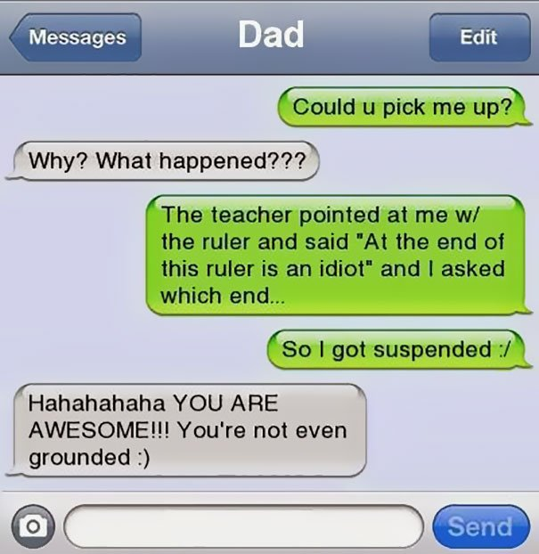 20+ Funniest Dad Texts On The Internet | Stay At Home Mum