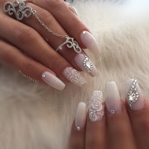 20+ Pretty Nail Arts For The Bride to Be | Stay At Home Mum