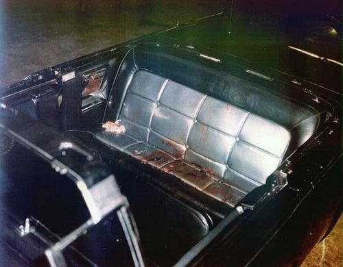 How many people were in the car during John F. Kennedy's assassination?