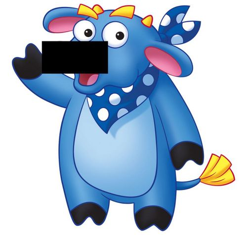 Benny the Bull is a character from Dora the Explorer. Is his nose pierced or not?