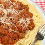 veggie filled bolognaise sauce   Stay at Home Mum