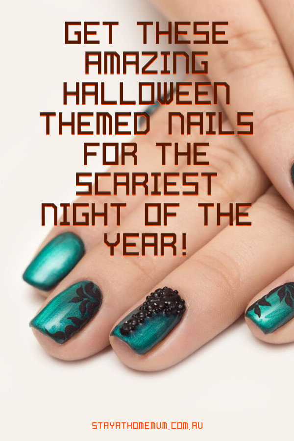Halloween themed nails | Stay at Home Mum