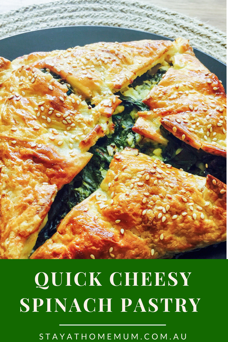 Quick Cheesy Spinach Pastry