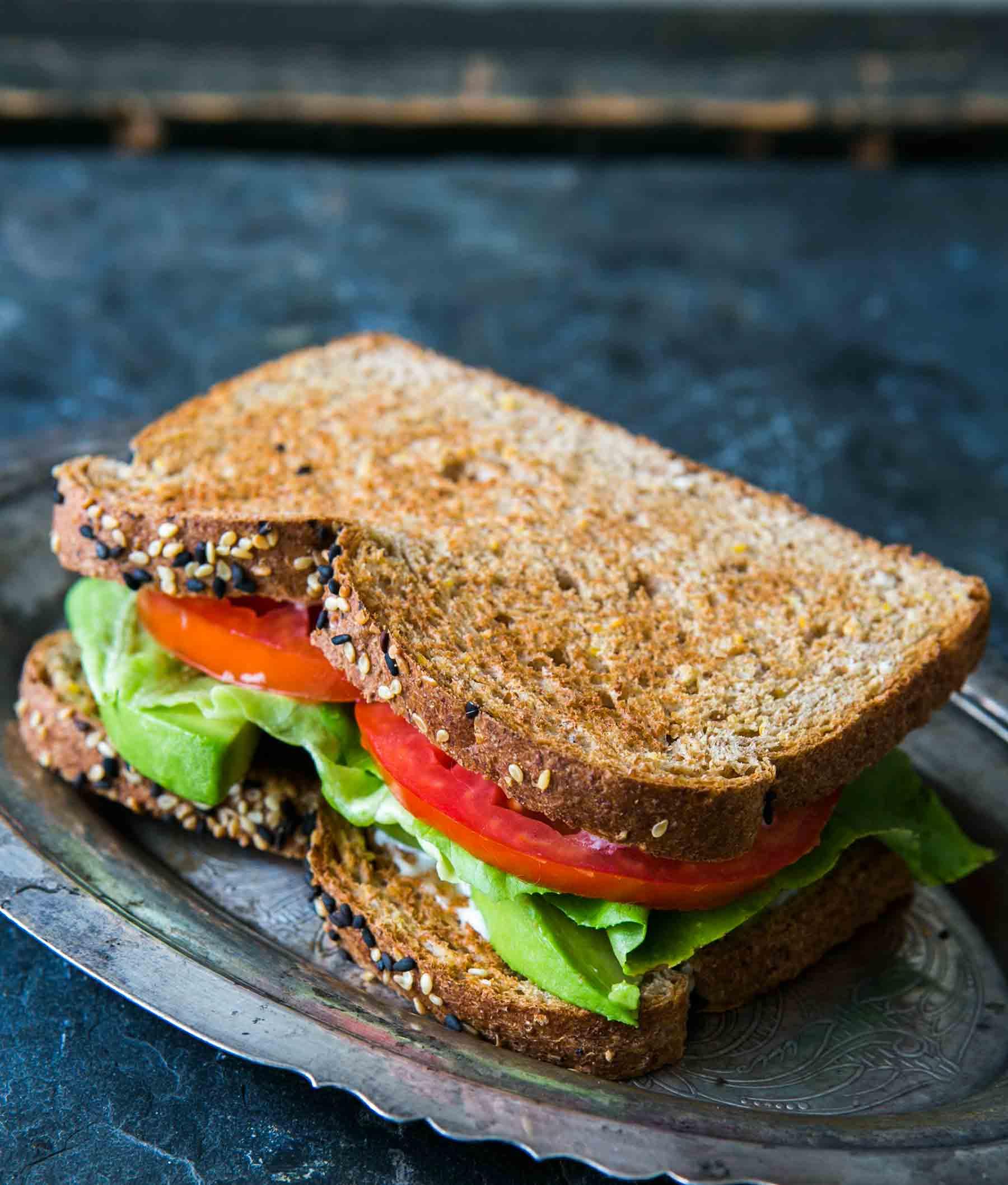avocado lettuce tomato sandwich vertical a 1800 | Stay at Home Mum.com.au