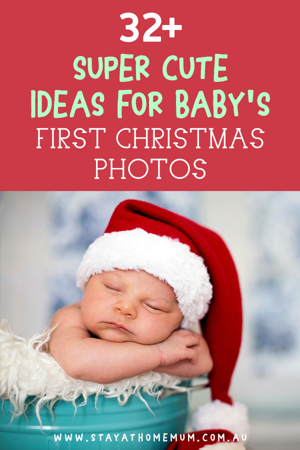 32 Super Cute Ideas For Baby S First Christmas Photos