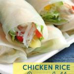 Chicken Rice Paper Rolls