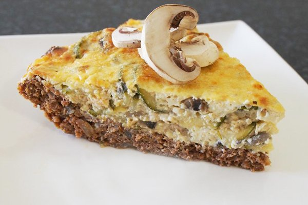 Pastry Free Beef Cheese Pie