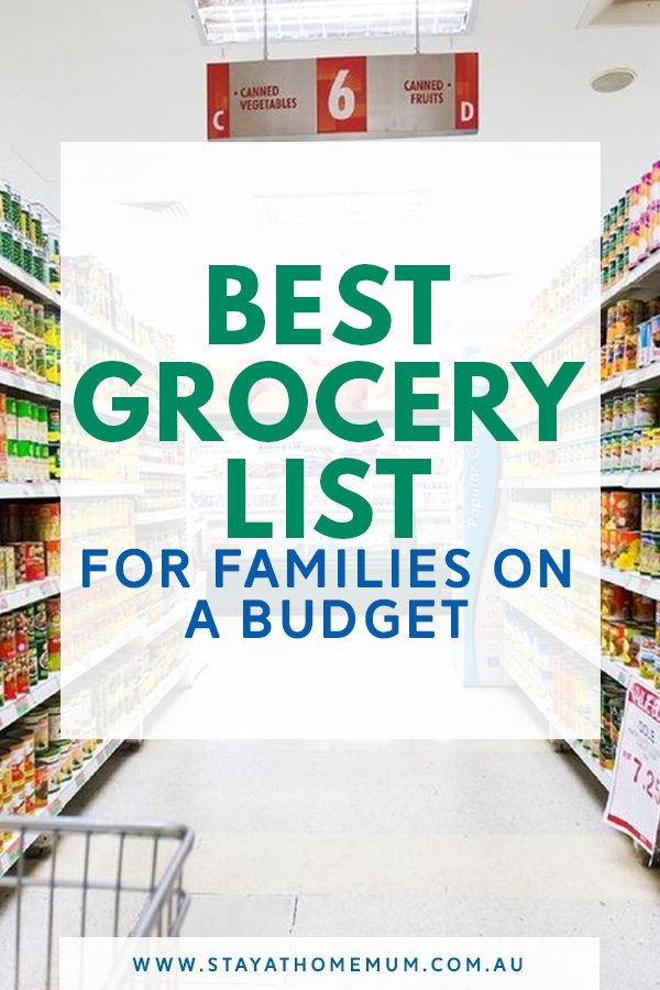 Best Grocery List for Families on a Budget