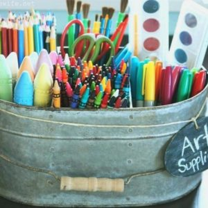 20 Nifty Ways to Store and Organise Kids' Art Supplies