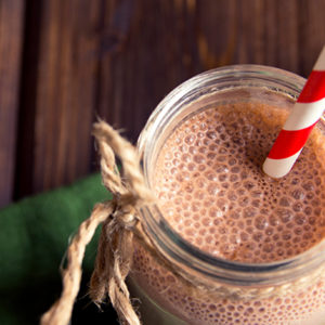 Chocolate and Peanut Butter Boobie Smoothie