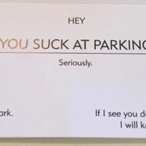 25 Hilarious Bad Parking Notes To Leave on Windscreens