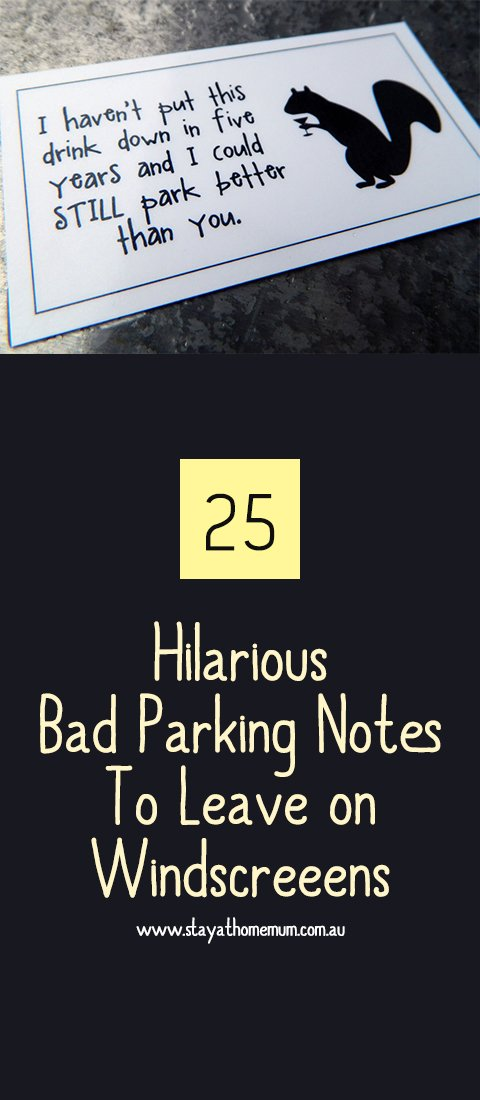 photo relating to Printable Bad Parking Notes named 25 Hilarious Poor Parking Notes toward Depart upon Windscreens