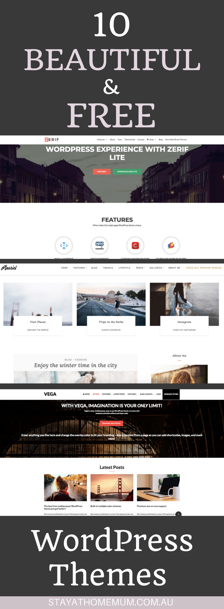 10 Beautiful and Free WordPress Themes
