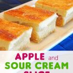 Apple and Sour Cream Slice