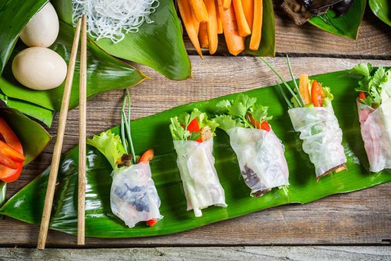 Chicken Rice Paper Rolls | Stay at Home Mum