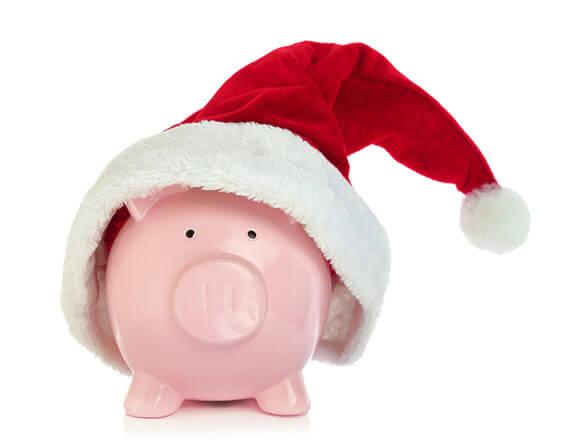 piggy bank in santa hat | Stay at Home Mum.com.au