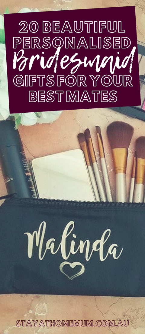 20 Beautiful Personalised Bridesmaid Gifts for Your Best Mates   Stay at Home Mum.com.au
