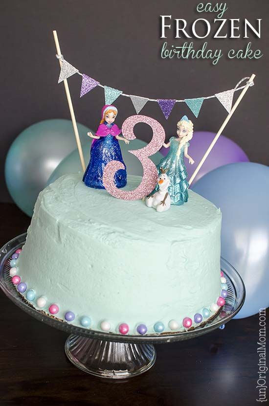 6 Frozen Birthday Cake