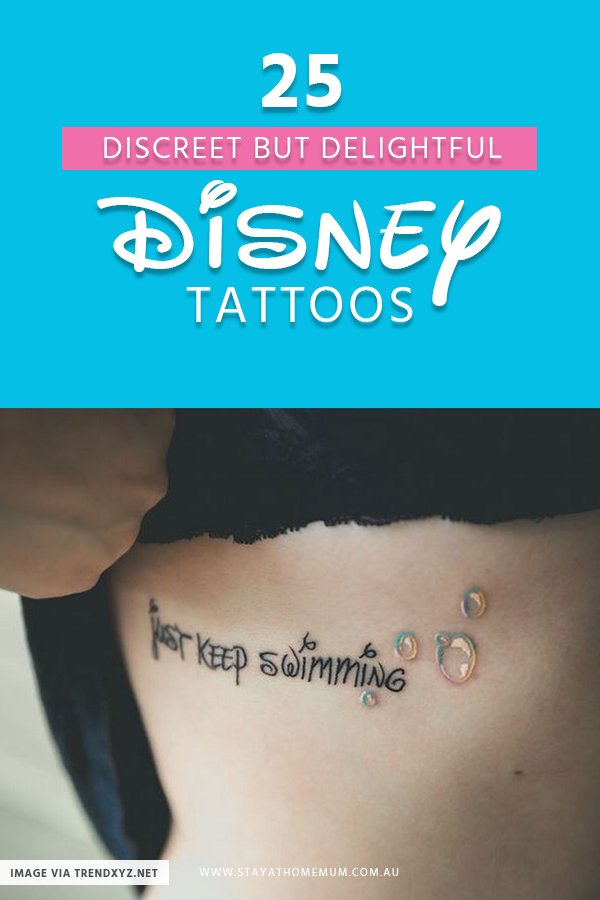 25 Discreet But Delightful Disney Tattoos | Stay at Home Mum
