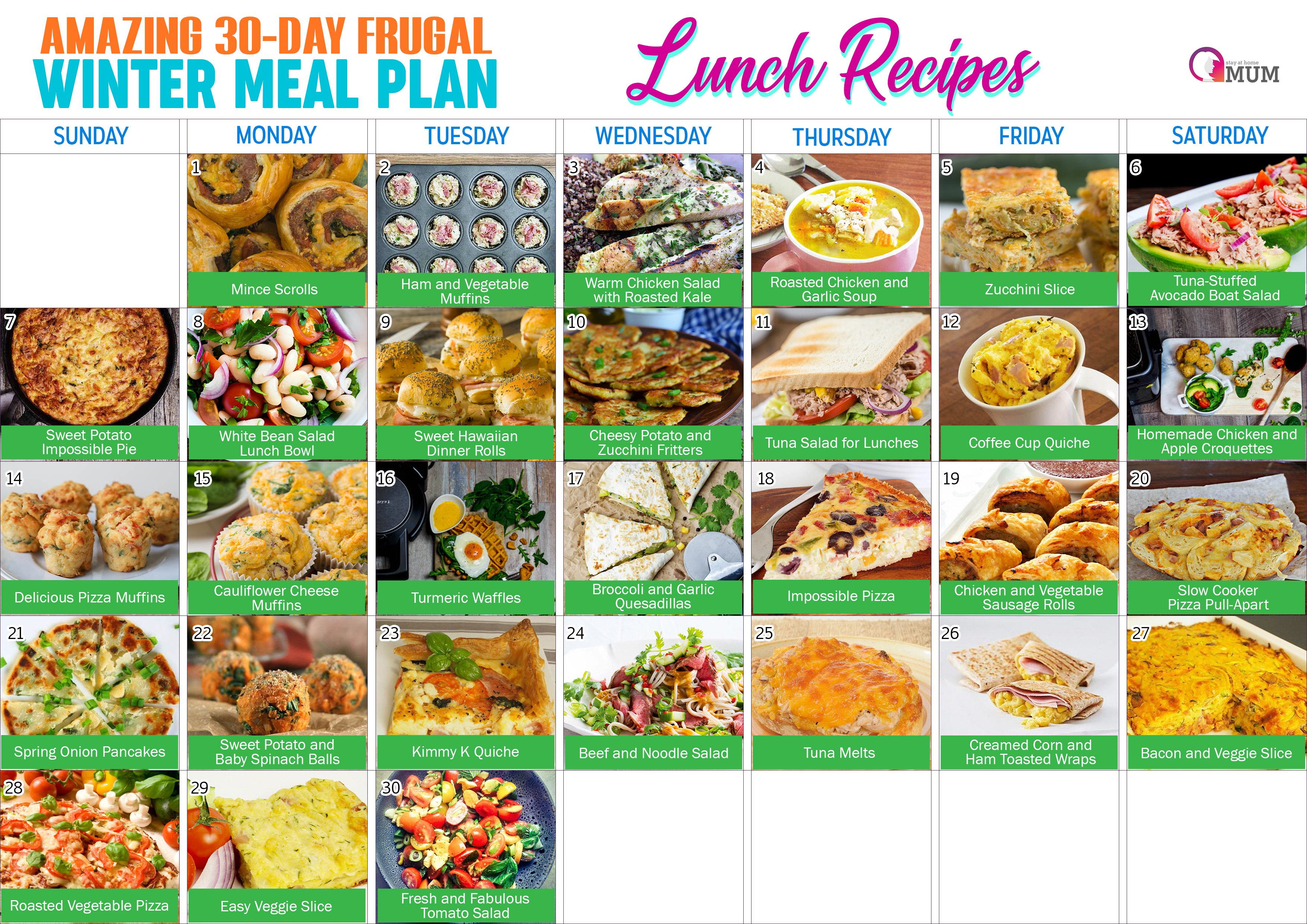 LUNCH RECIPES   Stay at Home Mum.com.au
