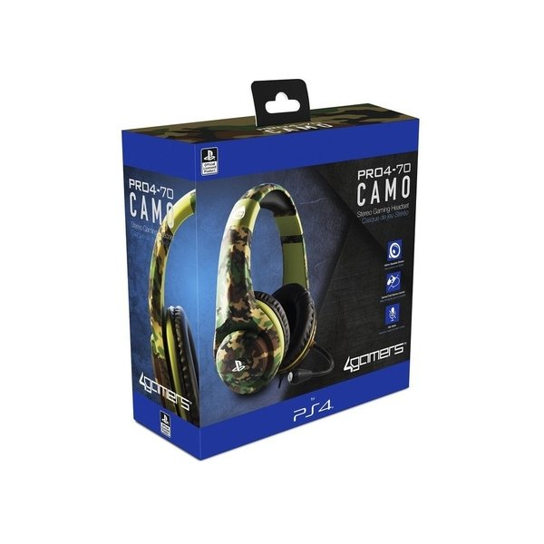 4Gamers PRO4-70 Wired Stereo Gaming Camo Headset PS4 | Stay At Home Mum